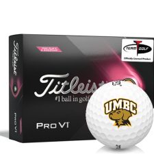 Titleist 2021 Pro V1 Pink Play & Sidestamp Maryland Baltimore County Retrievers Golf Balls