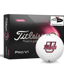 Titleist 2021 Pro V1 Pink Play & Sidestamp UMass Minutemen Golf Balls