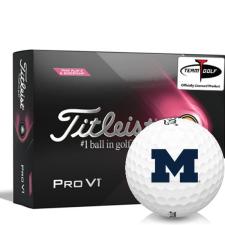 Titleist 2021 Pro V1 Pink Play & Sidestamp Michigan Wolverines Golf Balls