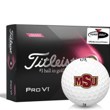 Titleist 2021 Pro V1 Pink Play & Sidestamp Midwestern State Mustangs Golf Balls