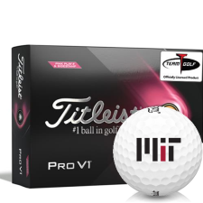 Titleist 2021 Pro V1 Pink Play & Sidestamp MIT - Massachusetts Institute of Technology Golf Balls