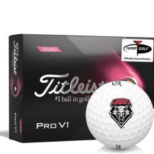 Titleist 2021 Pro V1 Pink Play & Sidestamp New Mexico Lobos Golf Balls