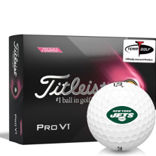 Titleist 2021 Pro V1 Pink Play & Sidestamp New York Jets Golf Balls