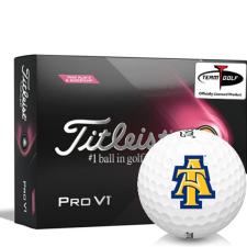 Titleist 2021 Pro V1 Pink Play & Sidestamp North Carolina A&T Aggies Golf Balls