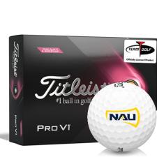 Titleist 2021 Pro V1 Pink Play & Sidestamp Northern Arizona Lumberjacks Golf Balls