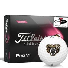 Titleist 2021 Pro V1 Pink Play & Sidestamp Oakland Golden Grizzlies Golf Balls