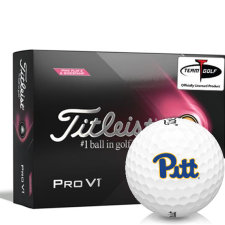 Titleist 2021 Pro V1 Pink Play & Sidestamp Pittsburgh Panthers Golf Balls