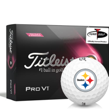 Titleist 2021 Pro V1 Pink Play & Sidestamp Pittsburgh Steelers Golf Balls