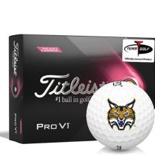 Titleist 2021 Pro V1 Pink Play & Sidestamp Quinnipiac Bobcats Golf Balls