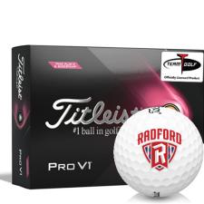 Titleist 2021 Pro V1 Pink Play & Sidestamp Radford Highlanders Golf Balls