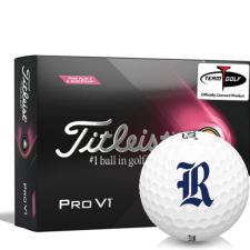 Titleist 2021 Pro V1 Pink Play & Sidestamp Rice Owls Golf Balls