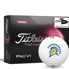 Titleist 2021 Pro V1 Pink Play & Sidestamp San Jose State Spartans Golf Balls