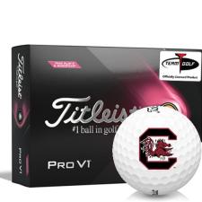 Titleist 2021 Pro V1 Pink Play & Sidestamp South Carolina Fighting Gamecocks Golf Balls