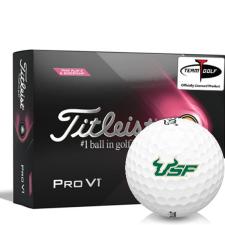 Titleist 2021 Pro V1 Pink Play & Sidestamp South Florida Bulls Golf Balls
