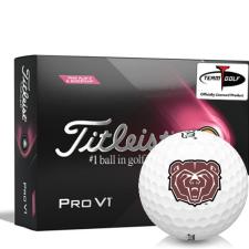 Titleist 2021 Pro V1 Pink Play & Sidestamp Southwest Missouri State Bears Golf Balls