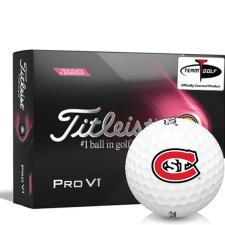 Titleist 2021 Pro V1 Pink Play & Sidestamp St. Cloud State Huskies Golf Balls