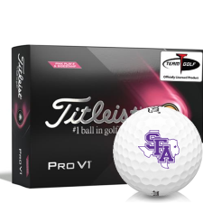 Titleist 2021 Pro V1 Pink Play & Sidestamp Stephen F. Austin Lumberjacks Golf Balls