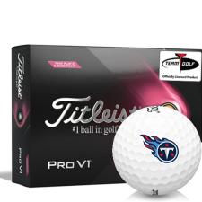 Titleist 2021 Pro V1 Pink Play & Sidestamp Tennessee Titans Golf Balls