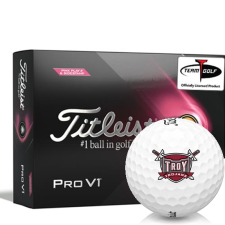 Titleist 2021 Pro V1 Pink Play & Sidestamp Troy Trojans Golf Balls
