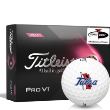 Titleist 2021 Pro V1 Pink Play & Sidestamp Tulsa Golden Hurricane Golf Balls