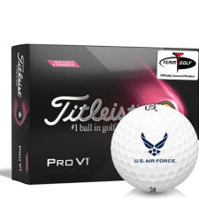 Titleist 2021 Pro V1 Pink Play & Sidestamp US Air Force Golf Balls