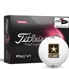 Titleist 2021 Pro V1 Pink Play & Sidestamp US Army Golf Balls