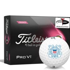 Titleist 2021 Pro V1 Pink Play & Sidestamp US Coast Guard Golf Balls