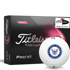 Titleist 2021 Pro V1 Pink Play & Sidestamp US Navy Golf Balls