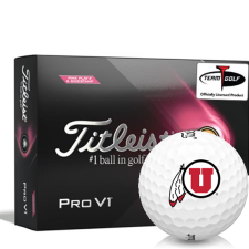 Titleist 2021 Pro V1 Pink Play & Sidestamp Utah Utes Golf Balls