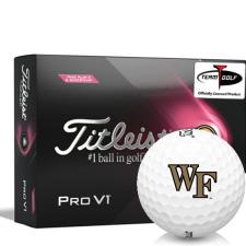 Titleist 2021 Pro V1 Pink Play & Sidestamp Wake Forest Demon Deacons Golf Balls