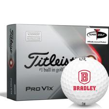 Titleist 2021 Pro V1x AIM Bradley Braves Golf Balls