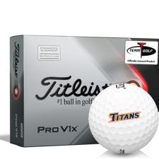 Titleist 2021 Pro V1x AIM Cal State Fullerton Titans Golf Balls