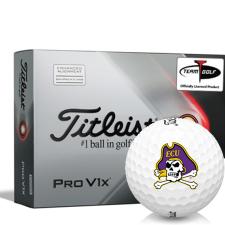 Titleist 2021 Pro V1x AIM East Carolina Pirates Golf Balls