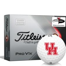 Titleist 2021 Pro V1x AIM Houston Cougars Golf Balls
