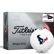 Titleist 2021 Pro V1x AIM Houston Texans Golf Balls