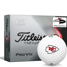 Titleist 2021 Pro V1x AIM Kansas City Chiefs Golf Balls