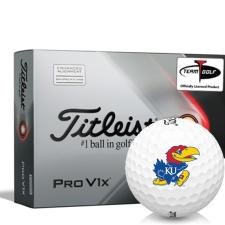Titleist 2021 Pro V1x AIM Kansas Jayhawks Golf Balls