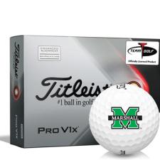 Titleist 2021 Pro V1x AIM Marshall Thundering Herd Golf Balls