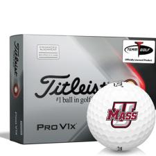 Titleist 2021 Pro V1x AIM UMass Minutemen Golf Balls