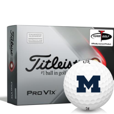 Titleist 2021 Pro V1x AIM Michigan Wolverines Golf Balls