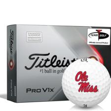 Titleist 2021 Pro V1x AIM Ole Miss Rebels Golf Balls