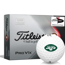 Titleist 2021 Pro V1x AIM New York Jets Golf Balls