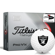 Titleist 2021 Pro V1x AIM Oakland Raiders Golf Balls