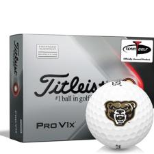 Titleist 2021 Pro V1x AIM Oakland Golden Grizzlies Golf Balls