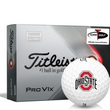 Titleist 2021 Pro V1x AIM Ohio State Buckeyes Golf Balls