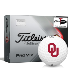 Titleist 2021 Pro V1x AIM Oklahoma Sooners Golf Balls
