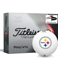 Titleist 2021 Pro V1x AIM Pittsburgh Steelers Golf Balls