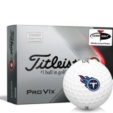 Titleist 2021 Pro V1x AIM Tennessee Titans Golf Balls
