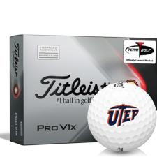 Titleist 2021 Pro V1x AIM Texas El Paso Miners Golf Balls