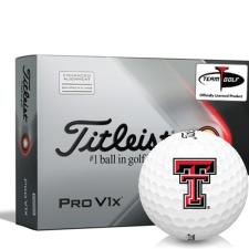 Titleist 2021 Pro V1x AIM Texas Tech Red Raiders Golf Balls